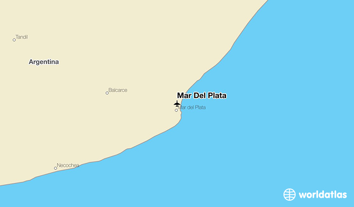 Mar Del Plata location on a map