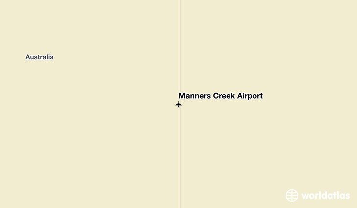 Manners Creek Airport location on a map