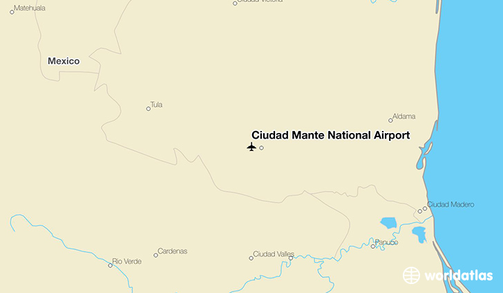Ciudad Mante National Airport location on a map