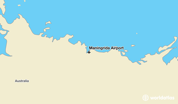 Maningrida Airport location on a map