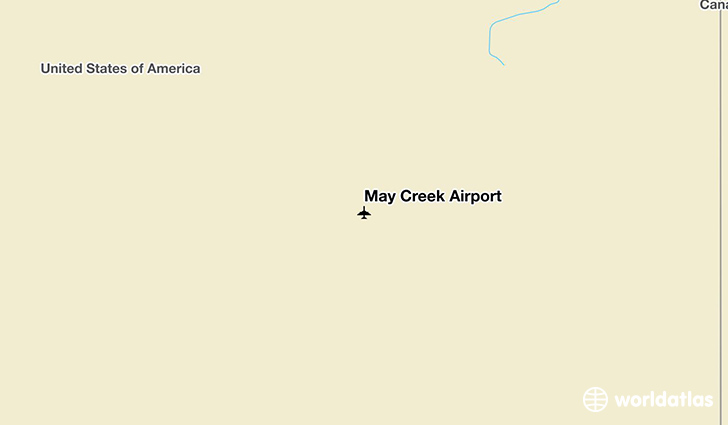 May Creek Airport location on a map