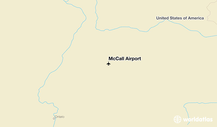 McCall Airport location on a map