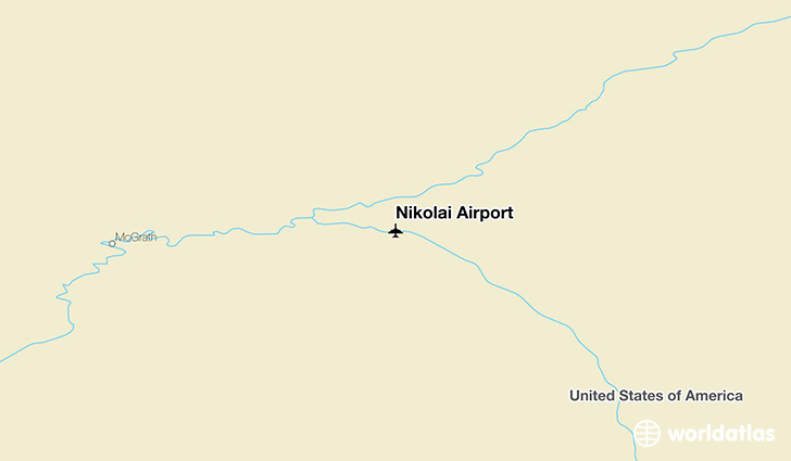 Nikolai Airport location on a map
