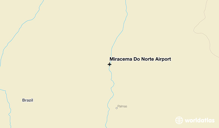 Miracema Do Norte Airport location on a map