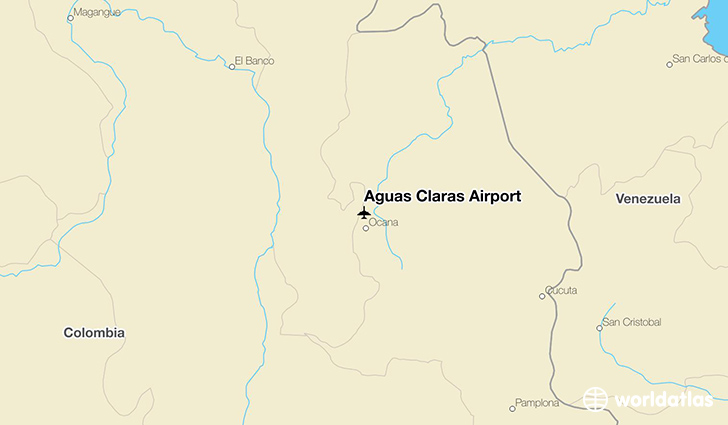 Aguas Claras Airport location on a map