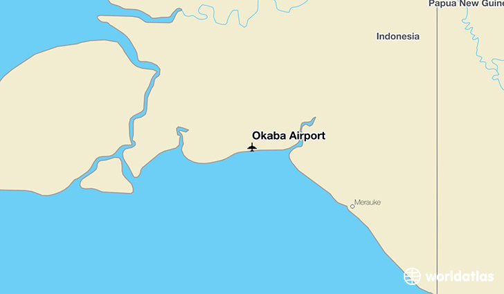 Okaba Airport location on a map