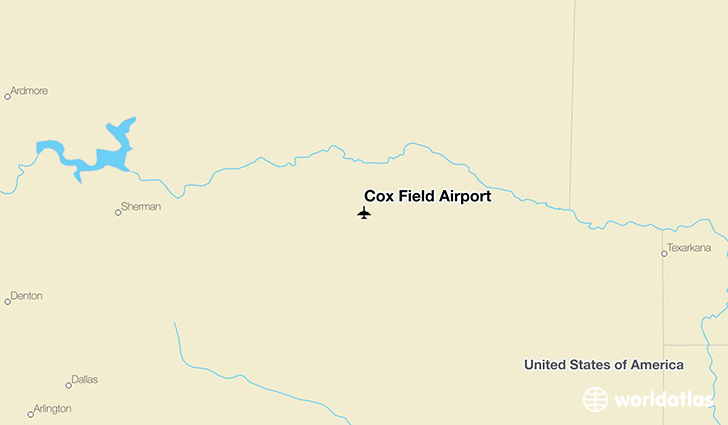 Cox Field Airport location on a map