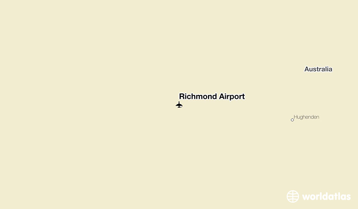Richmond Airport location on a map