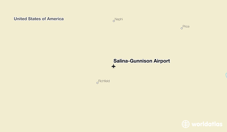 Salina-Gunnison Airport location on a map