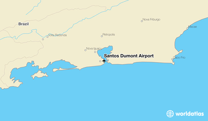 Santos Dumont Airport location on a map