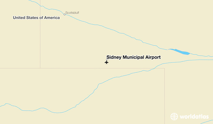 Sidney Municipal Airport location on a map