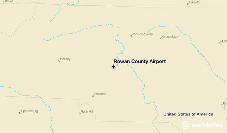 Rowan County Airport location on a map