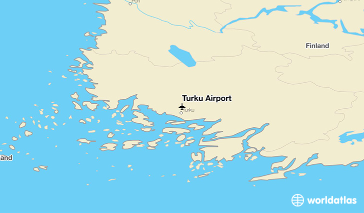 Turku Airport location on a map