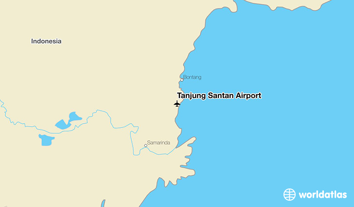 Tanjung Santan Airport location on a map