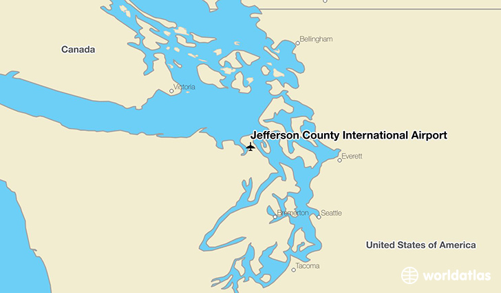 Jefferson County International Airport location on a map