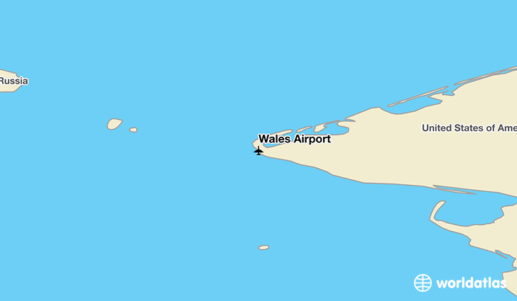 Wales Airport location on a map