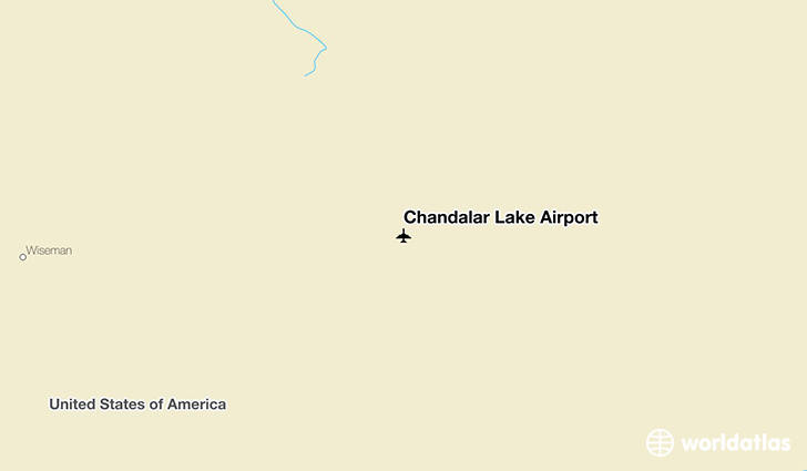 Chandalar Lake Airport location on a map