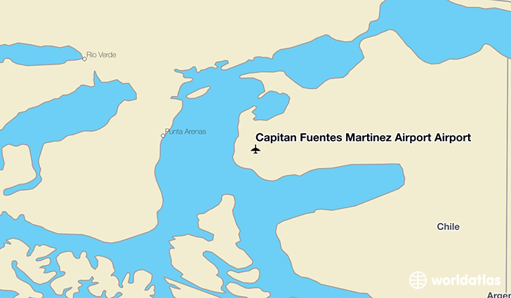 Capitan Fuentes Martinez Airport Airport location on a map