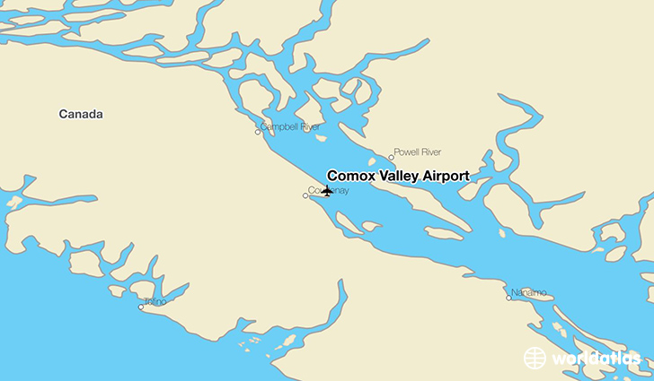 Comox Valley Airport location on a map