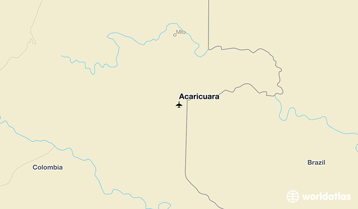 Acaricuara location on a map