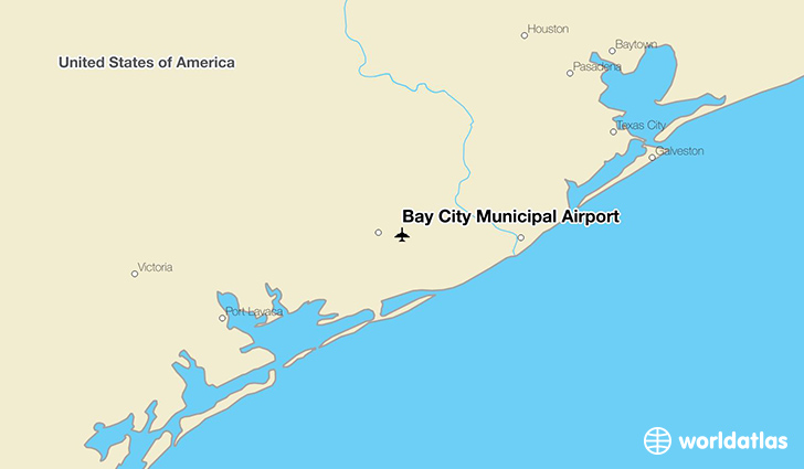 Bay City Municipal Airport location on a map