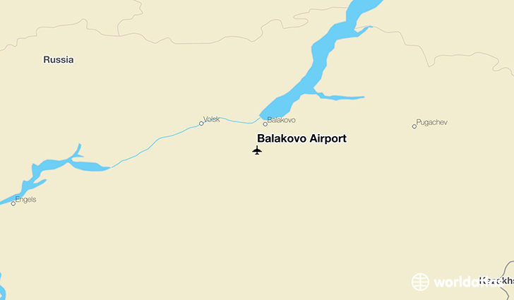 Balakovo Airport location on a map