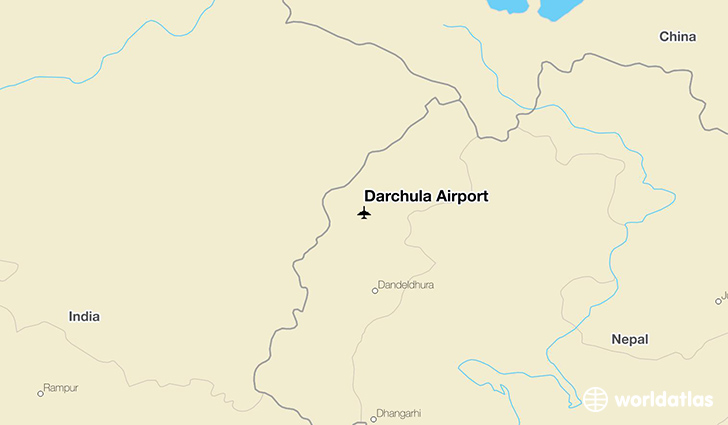 Darchula Airport location on a map