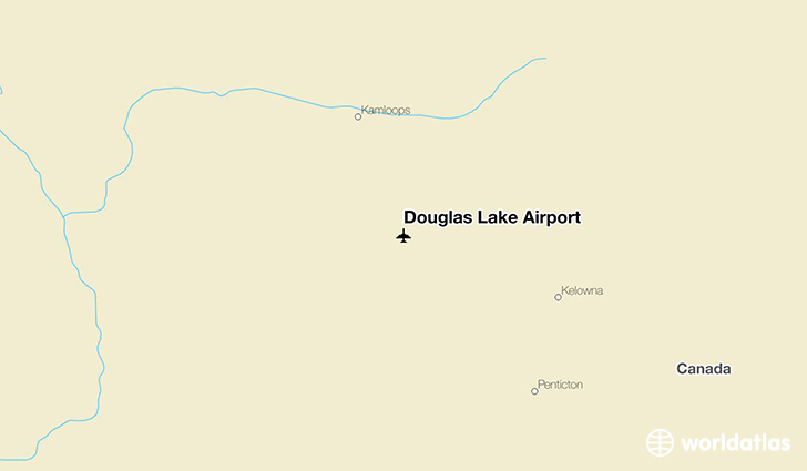 Douglas Lake Airport location on a map