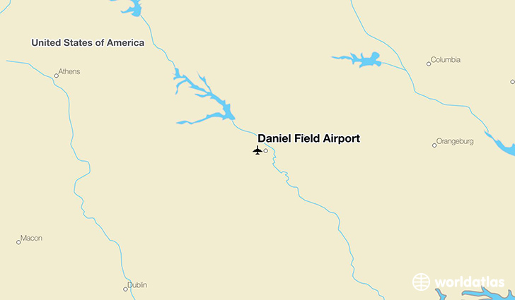 Daniel Field Airport location on a map