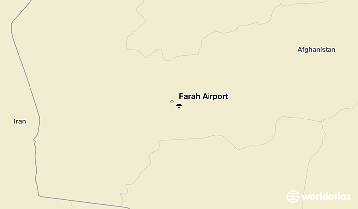 Farah Airport location on a map