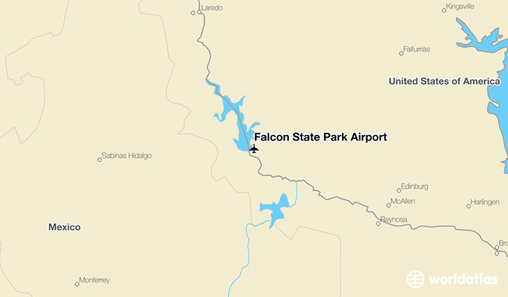 Falcon State Park Airport location on a map