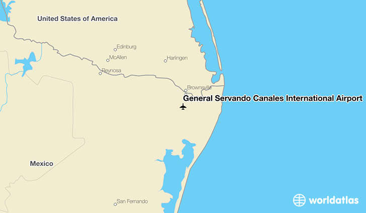 General Servando Canales International Airport location on a map