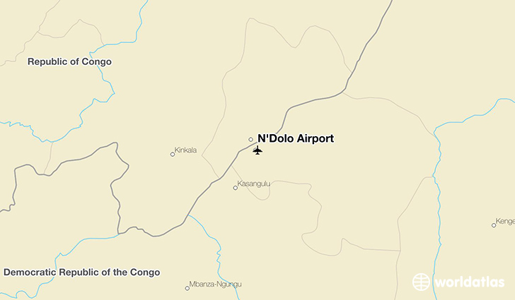 N'Dolo Airport location on a map