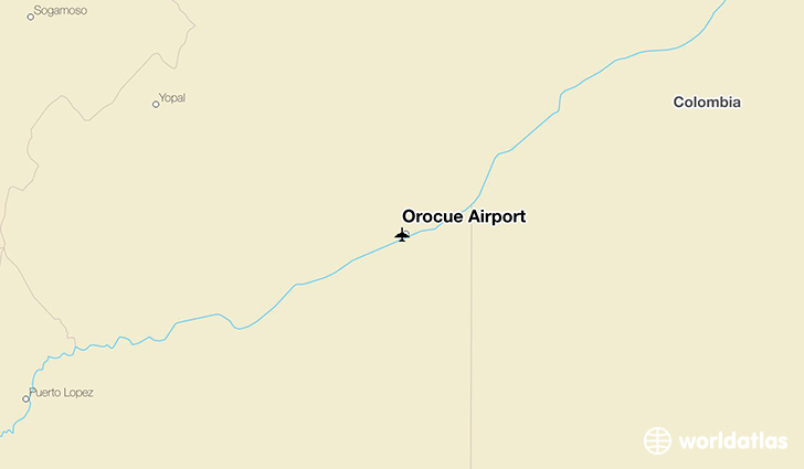 Orocue Airport location on a map