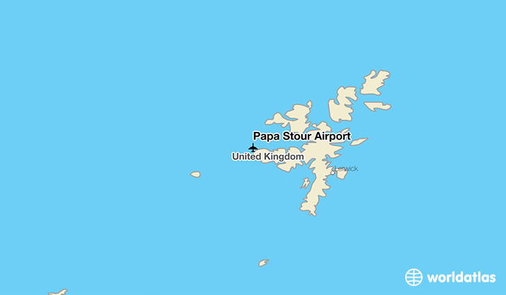 Papa Stour Airport location on a map