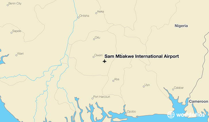 Sam Mbakwe International Airport location on a map