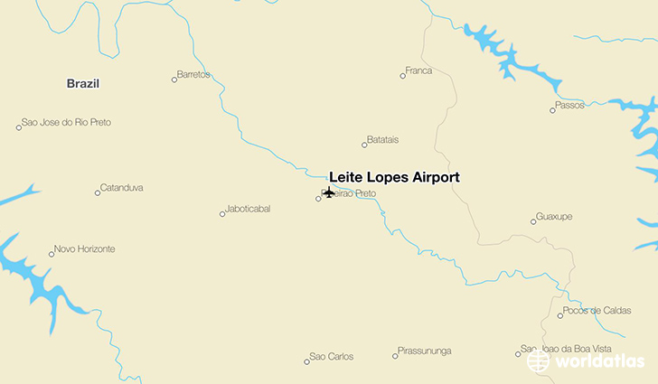Leite Lopes Airport location on a map