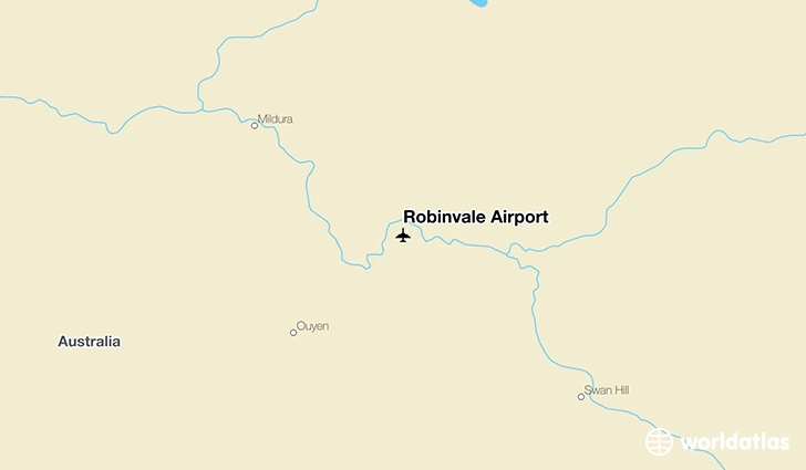 Robinvale Airport location on a map