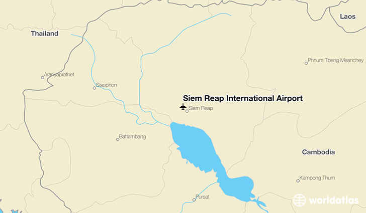 Siem Reap International Airport location on a map