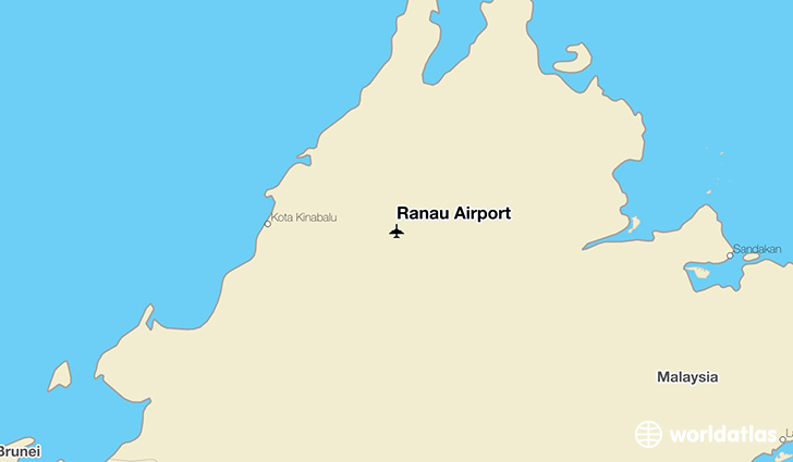 Ranau Airport location on a map