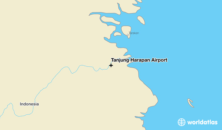 Tanjung Harapan Airport location on a map