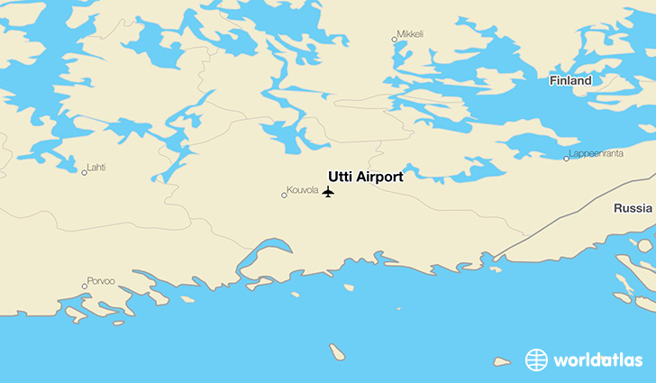 Utti Airport location on a map