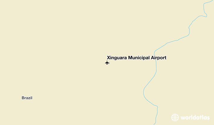 Xinguara Municipal Airport location on a map