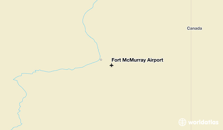 Fort McMurray Airport location on a map
