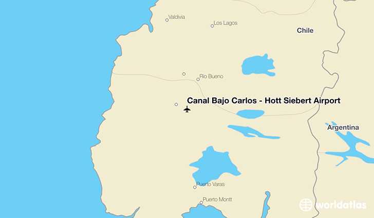 Cañal Bajo Carlos - Hott Siebert Airport location on a map
