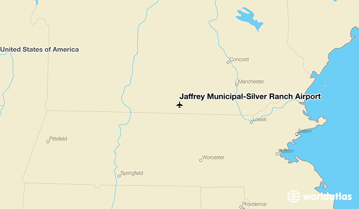 Jaffrey Municipal-Silver Ranch Airport location on a map