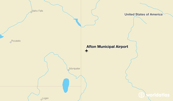 Afton Municipal Airport location on a map