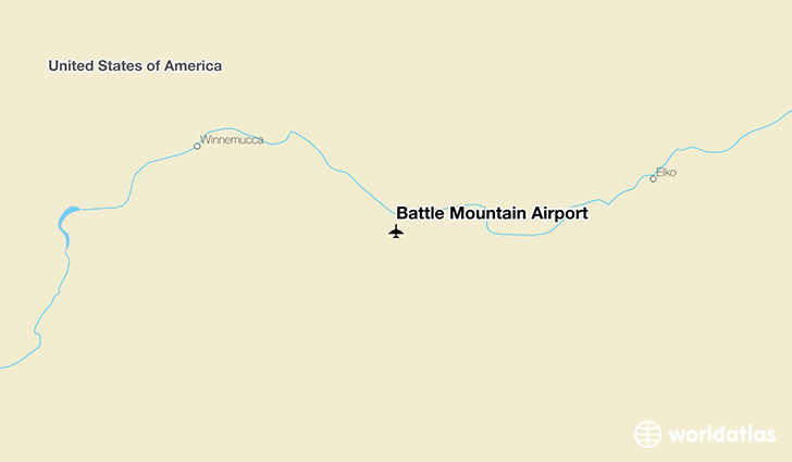 Battle Mountain Airport location on a map