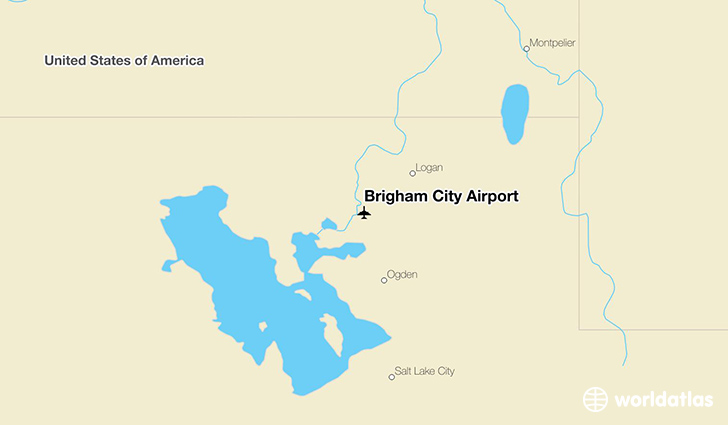Brigham City Airport location on a map