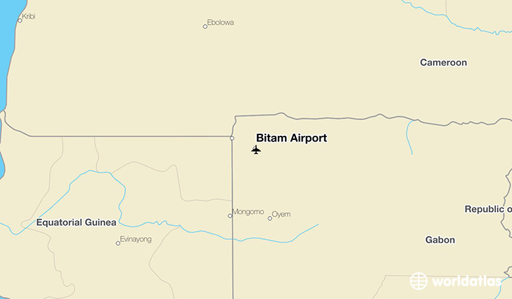 Bitam Airport location on a map